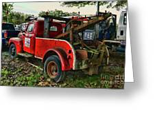 Ford F4 Tow The Truck Business End Greeting Card