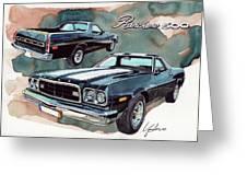 Ford Ranchero 500 Greeting Card