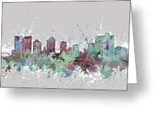 Fort Worth Skyline Artistic Pastel Greeting Card