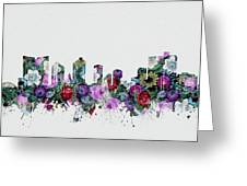 Fort Worth Skyline Floral 2 Greeting Card