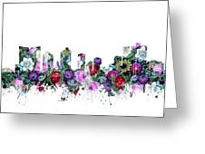 Fort Worth Skyline Floral Greeting Card