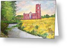 Fountains Abbey In Yorkshire Through Japanese Eyes Greeting Card