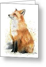 Fox Watercolor Greeting Card