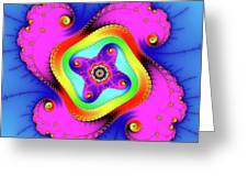 Fractal Art With Bold Colors Square Greeting Card