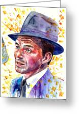 Frank Sinatra Singing Greeting Card