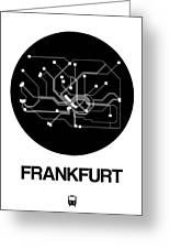 Frankfurt Black Subway Map Greeting Card