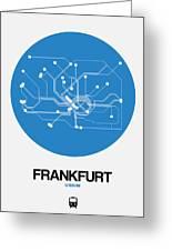 Frankfurt Blue Subway Map Greeting Card