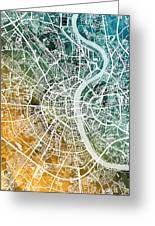 Frankfurt Germany City Map Greeting Card