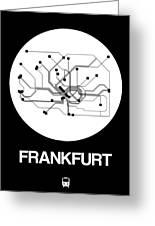 Frankfurt White Subway Map Greeting Card