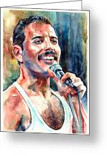 Freddie Mercury Live Aid Greeting Card