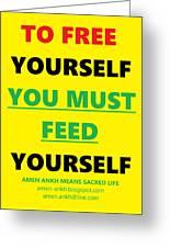 Free Yourself Greeting Card