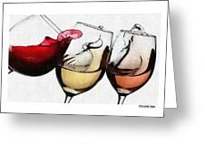 French Wines Greeting Card