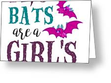Fruit Bat Conservation Halloween Flying Fox Women Light Greeting Card
