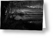 Full Moon Behind The Clouds Greeting Card