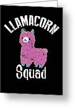 Funny Llamacorn Squad Unicorn Alpaca Lama Greeting Card