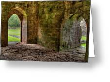 Furness Abbey Arches Greeting Card by Dennis Dame