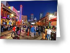 Game Night On Lansdowne Street 2018 World Series Red Sox Boston Ma 2 Greeting Card