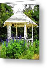 Gazebo In A Beautiful Public Garden Park 3 Greeting Card