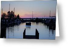 Calm Sunset Finish Greeting Card