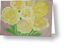 Gentle Yellow Bouquet Greeting Card