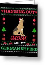 German Shepherd Ugly Christmas Sweater Xmas Gift Greeting Card