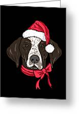 German Shorthair Xmas Hat Dog Lover Christmas Greeting Card