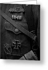 German Soldier Ww2 Black And White Greeting Card