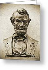 Gettysburg Battlefield - President Abraham Lincoln Greeting Card