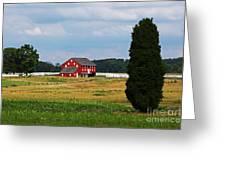 Red Barn On Sherfy Farm Gettysburg Greeting Card