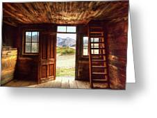 Ghost Town Cabin Greeting Card