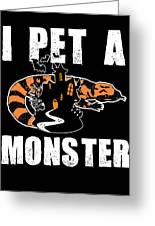 Gila Monster Halloween Venomous Lizard Pet Owner Dark Greeting Card