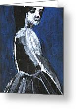 Girl In A Dress Greeting Card