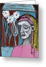 Girl In Pink Greeting Card