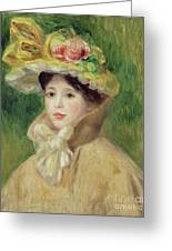 Girl With Yellow Cape, 1901 Greeting Card