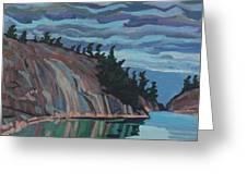 Gitchi-gami Cove Cliff Greeting Card