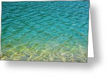 Glacial Depths Greeting Card
