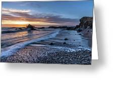 Glass Beach Sunset Greeting Card