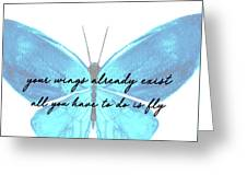 Go Fly Quote Greeting Card