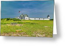 Goat Island Lighthouse Vibrant Day Landscape  Greeting Card