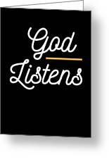 God Listens Bible Verse Christian Prayer Pray Greeting Card