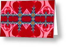 Gods Love And Mercy Is Infinite Fractal Abstract Hearts Greeting Card by Rose Santuci-Sofranko