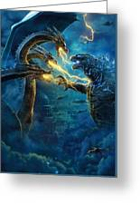 Godzilla II Rei Dos Monstros Greeting Card