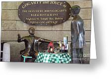 Gogarty And Joyce Statues One Greeting Card