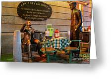 Gogarty And Joyce Statues Two Greeting Card