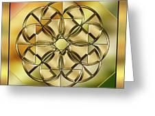 Gold Design 24 Greeting Card