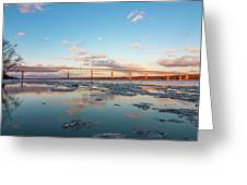Golden Bridge Greeting Card