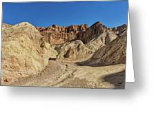 Golden Canyon's Red Cathedral Greeting Card