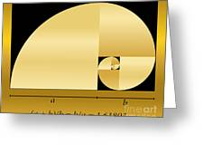 Golden Cut, Shown As A Spiral Out Of Greeting Card