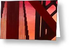 Golden Gate Art Deco Masterpiece Greeting Card by Rene Capone