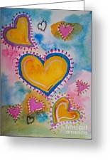 Golden Heart Greeting Card